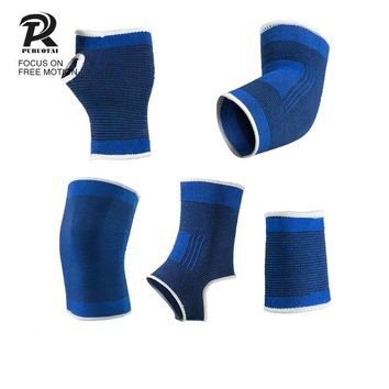 Protect Suit Blue Sport Knee Support Lengthen Knit Keep Warm Sports Long Knee Sleeve Brace Guard Pad Protector