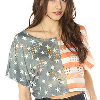 *LA Boutique Tee Lasercut Liberty in Red