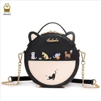 Beibaobao Famous Brands Women Bags Female Carton messenger Shoulder bags design cute cat women handbags High Quality Tote a2630