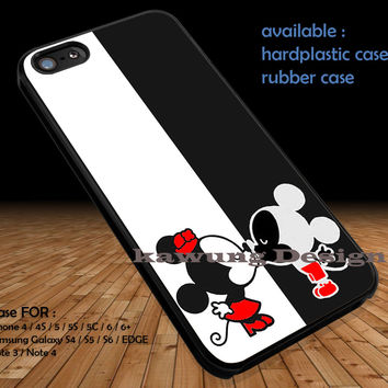 Couple Kissing Mouse iPhone 6s 6 6s+ 5c 5s Cases Samsung Galaxy s5 s6 Edge+ NOTE 5 4 3 #cartoon #animated #disney #MickeyMouse DOP312