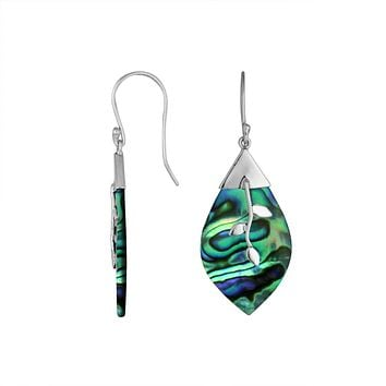 AE-6231-AB Sterling Silver Fancy Earring With Abalone Shell
