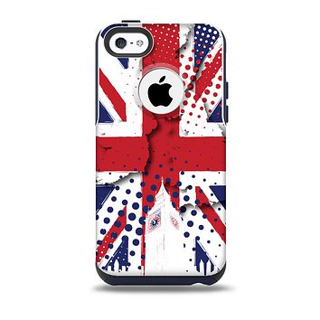 The Grunge Vector London England Flag Skin for the iPhone 5c OtterBox Commuter Case