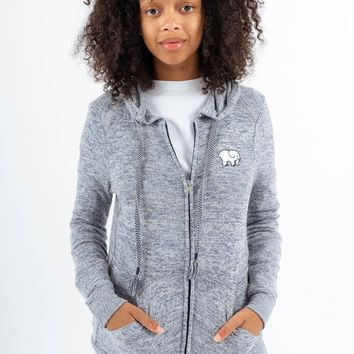 Navy Heather Dorm Zip Up Hoodie