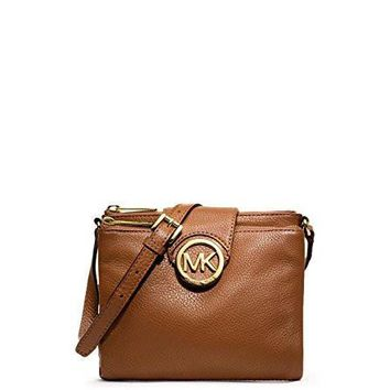 Michael Kors Stud Medium Two-Tone Leather Satchel fulton Large Leather Crossbody bag fulton Leather Carryall Wallet