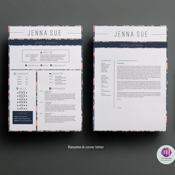 Resume template , cover letter template , reference letter template