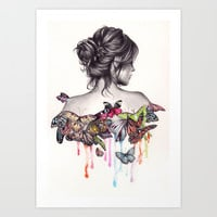 Butterfly Effect Art Print by KatePowellArt