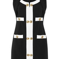 Moschino Embellished two-tone stretch-ponte mini dress – 50% at THE OUTNET.COM