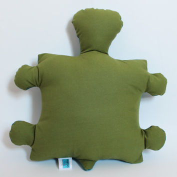 Turtle decorative pillow, Plush, Softie, Green, Teal, Nautical nursery decor, Baby shower gift, Baby toy, Toddler, Cute children birthday