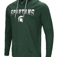 LMFONRU NCAA Michigan State Spartans Men's Big Air Long Sleeve Hooded Tee