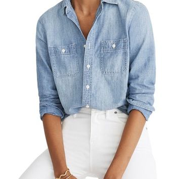 Madewell Classic Ex-Boyfriend Chambray Shirt | Nordstrom