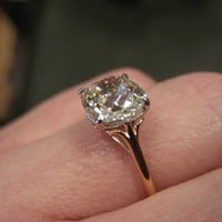 It's Here! It's Here! My 2.30 ct OMB Antique Cushion Upgrade : Show Me the Bling!  (Rings,Earrings,Jewelry) • Diamond Jewelry Forum - Compare Diamond Prices, Discussions & Diamond Information