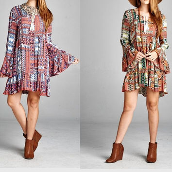 Eliza Bella for Velzera Boho Tribal Design Dress/Blouse SML