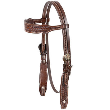 Cashel Browband Basket Stamp Browband Headstall