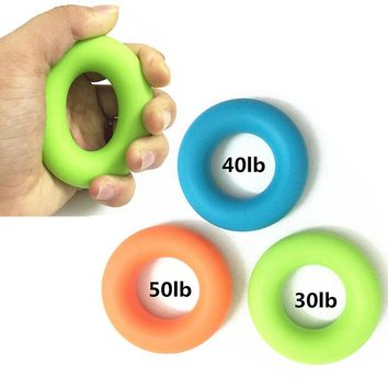 30-50LB Gripper Grip Ring Muscle Power Training Rubber Ring Silica gel loop Expander Training Sport Exerciser Finger Hand
