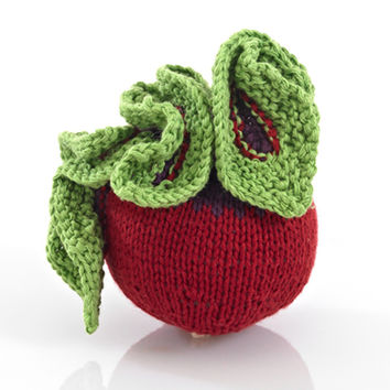 Beet Fair Trade Knitted Baby Rattle