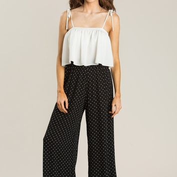 Sasha Black Polka Dot Pants