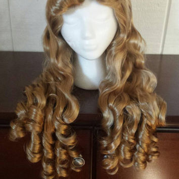 Golden Ash Blonde Sleeping Beauty/ Princess Aurora Wig (Long Version)