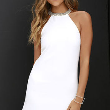 Comely Beaded Ivory Dress