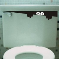 Toilet Monster Bathroom wall art decal sticker funny kids vinyl decal potty training
