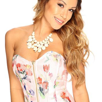 Pink Sweetheart Neckline Summer Corset Causal Top