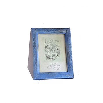 1994 Winnie the pooh Disney card in a refurbished vintage frame