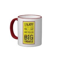 Enjoy the little things Inspire Quote Coffee mug