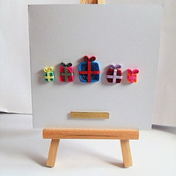 Birthday card, quilled card, handmade card, happy birthday, greeting card, card for him, card for her, card for friend, quilling card