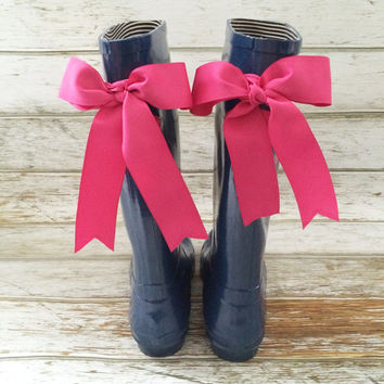 Rubber Rain Boots With Bows