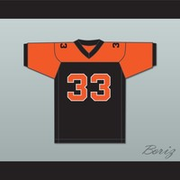 Orc Fogteeth 33 Black/Orange Football Jersey Bright