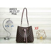 LV Louis Vuitton Classic Print Joker Stylish Bucket Bag Shoulder Bag F-WMXB-PFSH pink