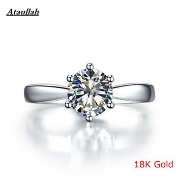 Super Big 5Carat 18K White Gold Lab Diamond Ring Pt950 Women Classic Diamond Ring Certificate Certified Ataullah RWD835-4