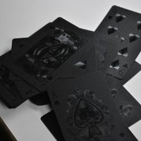 Kikkerland Black Magic Playing Cards Dark Deck Game Set