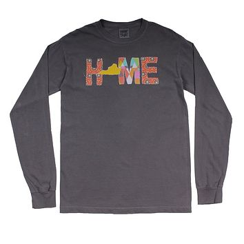 Virginia Home Long Sleeve Tee in Gray by Southern Roots