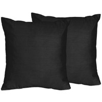 Sweet Jojo Designs Chevron Throw Pillow in Black (Set of 2)