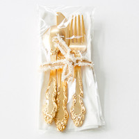 Pretty Plastic Utensils: Shiny Gold