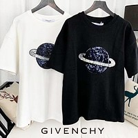 GIVENCHY Summer New Women Casual Planet Sequins T-Shirt Top Blouse