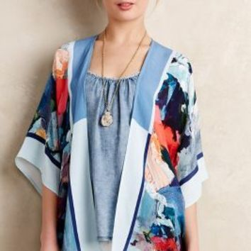 Painted Flora Kimono by Blank Blue Motif One