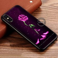 Withered Rose Glass Beauty And The Beast iPhone X 8 7 Plus 6s Cases Samsung Galaxy S8 Plus S7 edge NOTE 8 Covers #iphoneX #SamsungS8