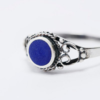 Sterling Silver Ring in Blue - Urban Outfitters