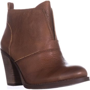 Lucky Brand Ehllen Pull On Ankle Boots, Toffee, 7.5 W US