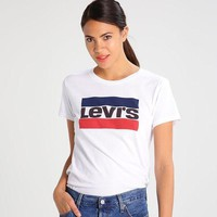 Levis Women Casual Print Short Sleeve Tunic Shirt Top Blouse