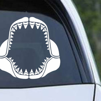 Shark Teeth Open Mouth Die Cut Vinyl Decal Sticker