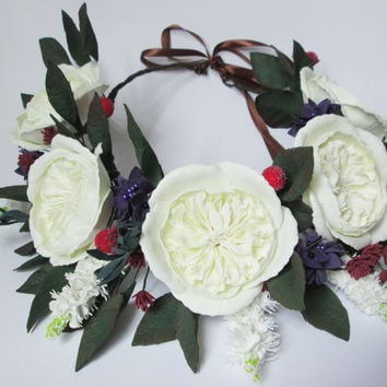 Boho crown Wedding flower crown Flower crown Boho floral crown Flower crown headband Boho floral crown Flower headband Flower headpiece