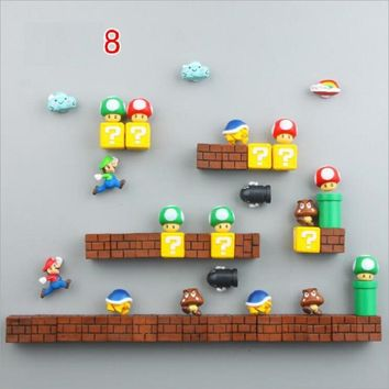 Super Mario party nes switch Fridge Magnets s Siuts Magnet Bricks Bullets Postbox Magnet stickers Rainbow Figure Toys for Kids Birthday Home Decor AT_80_8