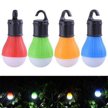 3 LEDs Outdoor Camping Tent Hanging Adventure Lanters Lamp Portable LED Light Hunting hut Fishing Garden Lamp Bulb drop shipping