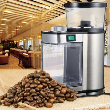 Gustino Electric Coffee Grinder Stainless Steel Electric Coffee Grinder Bean Coffee Grinding Machine Adjustable Grinding