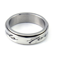 "Spinner Ring - Best Friend Ring Engraved with ""Forever Friends"", Sizes 6 to 9"
