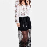 Out Of Control Lace Maxi Skirt