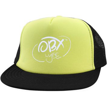 Cloud White OBX Lyfe District Trucker Hat with Snapback in 5 Colors