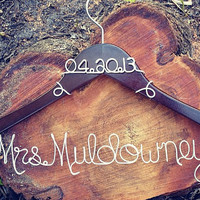 Personalized Custom Wire Wedding Hanger